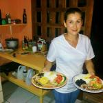Ania, great cook in our new small restaurant!