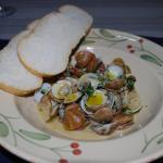 Clams with jamon and fino
