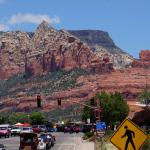 View of Red Rocks from Downtown Sedona