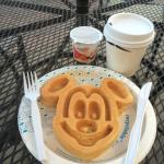 Mickey Mouse Waffle from Breakfast Buffet