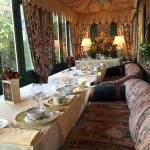 Breakfast dining area, a view of the courtyard.