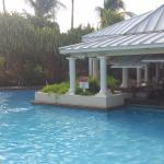 24-hour pool, with swim-up bar.  Max pool depth is 7 ft.