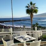 View for breakfast from the restaurant terrace.