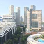 View towards Suntec Convention Centre from my balcony