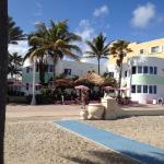 View of the Walkabout and Broadwalk from the beach