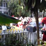 View from the porch of The Artist House on Fleming during the Masquerade Parade Fantasy Fest 201