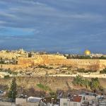 Old City of Jerusalem, seen from hotel