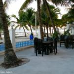 Beach dining area