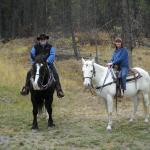 Our horses for the week, Jill and Artax
