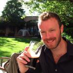 My first Guinness of the weekend in the leafy grounds of the hotel
