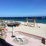 A view from the balcony toward the pool and into the Sea of Cortez.