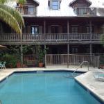 Pool area and front of Cigar House