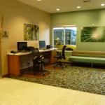 Computer area of hotel