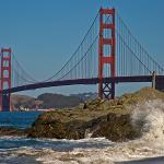 Golden Gate from Baker beach.