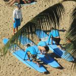 Surf lessons at the hotel