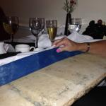Potentially unsafe 'dining 'table' which is really a pasting table