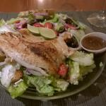 salad with grilled fish