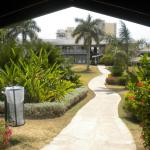 path through the resort grounds
