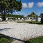 The volley ball court