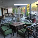 covered outdoor seating at the pub