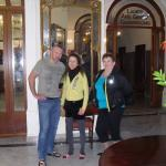 in the lobby with my holiday-makers