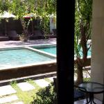 View of the pool from room