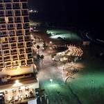 View of the beach and promenade at night