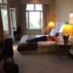 Deluxe Suite - lots of closet space apart from living room that had ample seating, TV & mini fri
