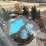 outdoor pool and ski village