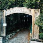 Archway entrance that leads in to the gazebo