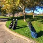 Golf bags ready to go