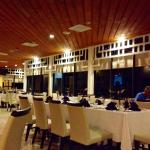 The restaurant at night.  Delicious chicken and snapper.