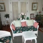 Wicker furnished adjoining private sitting room