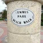 Beach walk sign