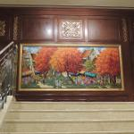 Mural at top of main stairs