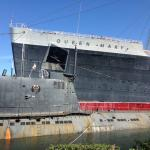 Queen Mary and Scorpion are in bad need of paint and repairs.