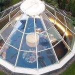 Glass-roof of the breakfast room