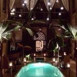 Courtyard indoor pool