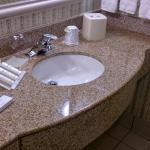 Bathroom Counter with Bath Amenities
