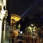View of Arc de Triomphe from balcony