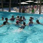 Water aerobics with Israel, Yuri & Axel (such a fun bunch)!