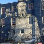 One of the many murals around the hotel and Venice Beach