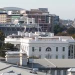 View of the White House from the roof restuarant