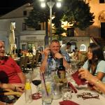 Dinner in the town square.