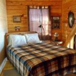 Bed is the open loft area