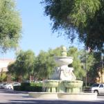 Water fountain out front