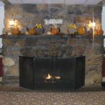 Beautiful fireplace and hearth for your enjoyment