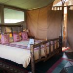Typical bed in the camp
