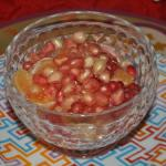 Pomegranates - one of our changing breakfast fruit servings.