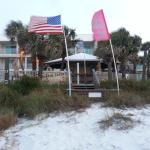 View of Bikini Beach Motel from beach